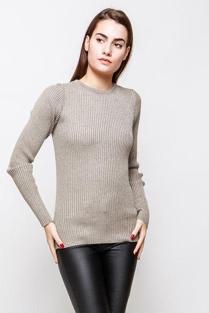 Klasický dámsky svetlo hnedý sveter