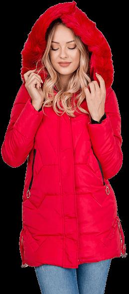 Dámska prešívaná bunda na zimu