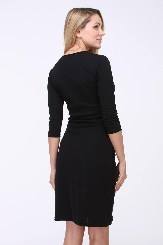 Čierne elegantné midi šaty s véčkovým výstrihom - ROUZIT.SK bce4f2774d7