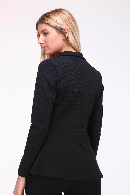 9d8d7bdca126 Dámske čierne sako s dlhými rukávmi - ROUZIT.SK