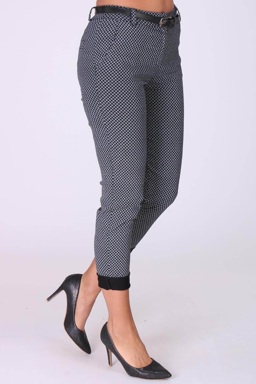 Dámske vzorované nohavice s opaskom - ROUZIT.SK df3fb010279