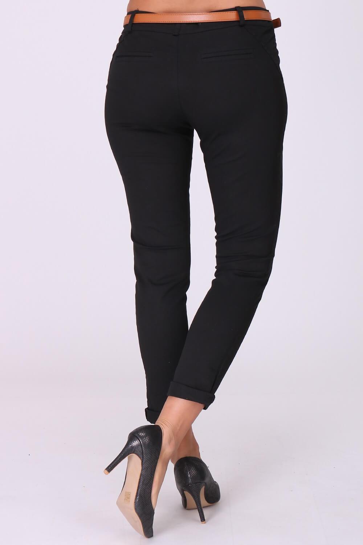 28a01ad4c5a8 Elegantné čierne dámske nohavice s opaskom - ROUZIT.SK