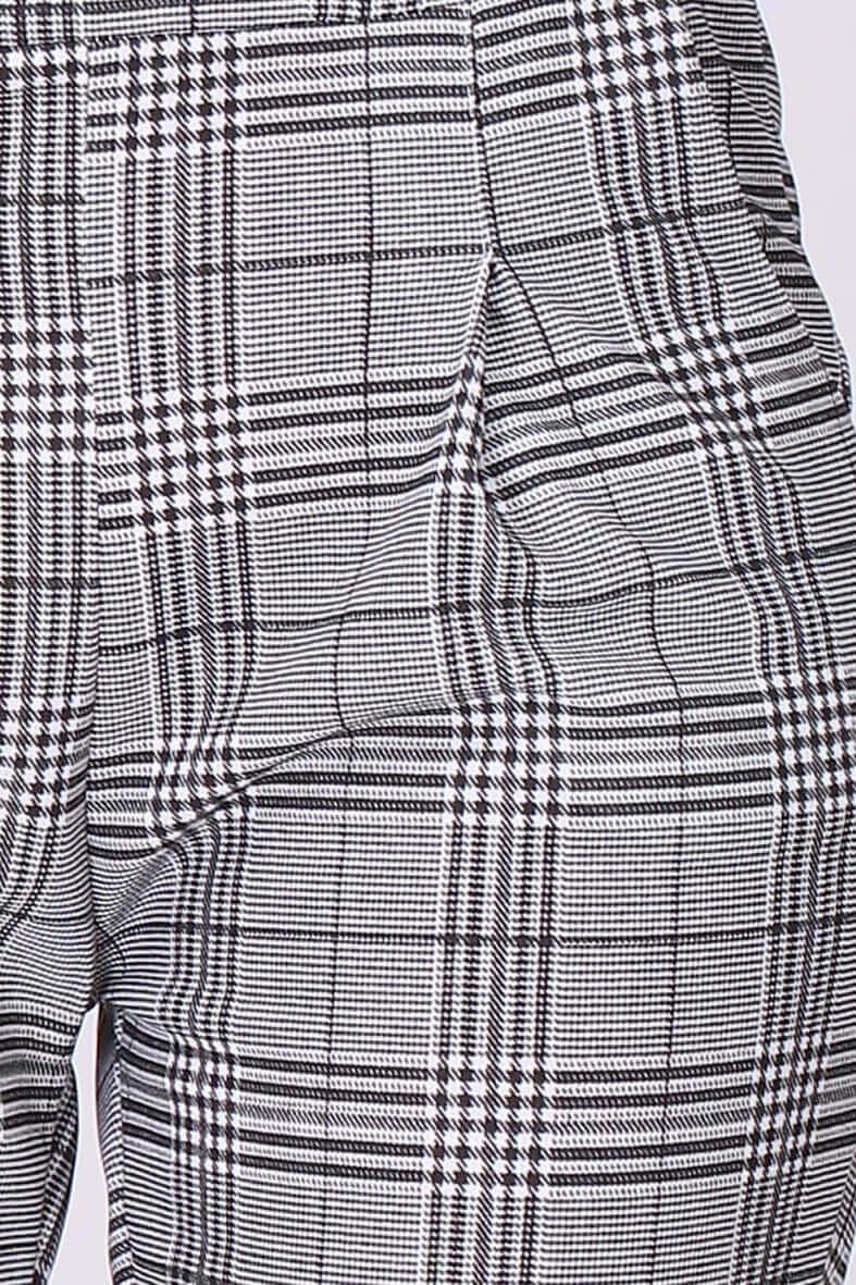 43babf268 Sivé dámske nohavice s tartanovým vzorom - ROUZIT.SK