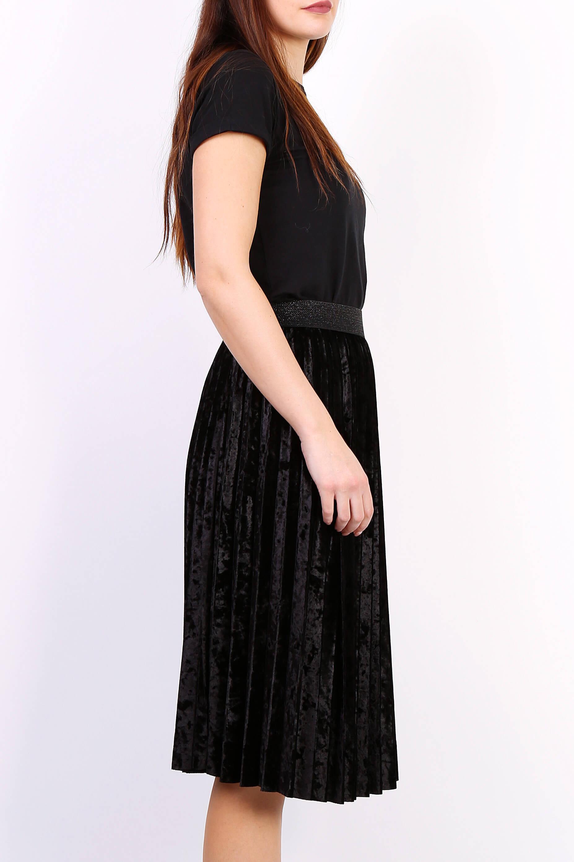 80758d25aad3 Čierna plisovaná stredne dlhá sukňa - ROUZIT.SK