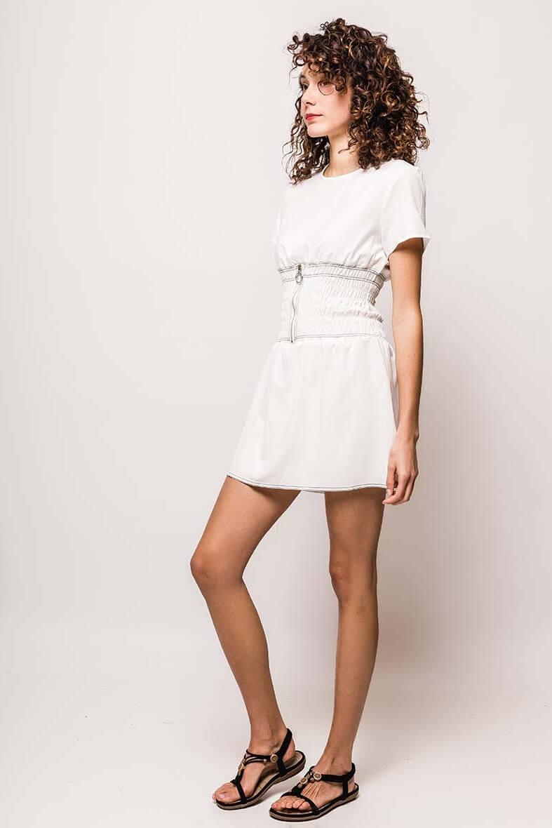 b7333dc691ca Krátke biele letné šaty - ROUZIT.SK