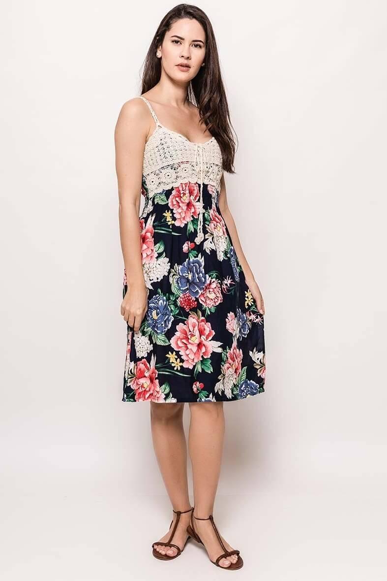 e4ac8b033 Letné kvetinové šaty na ramienkách - ROUZIT.SK