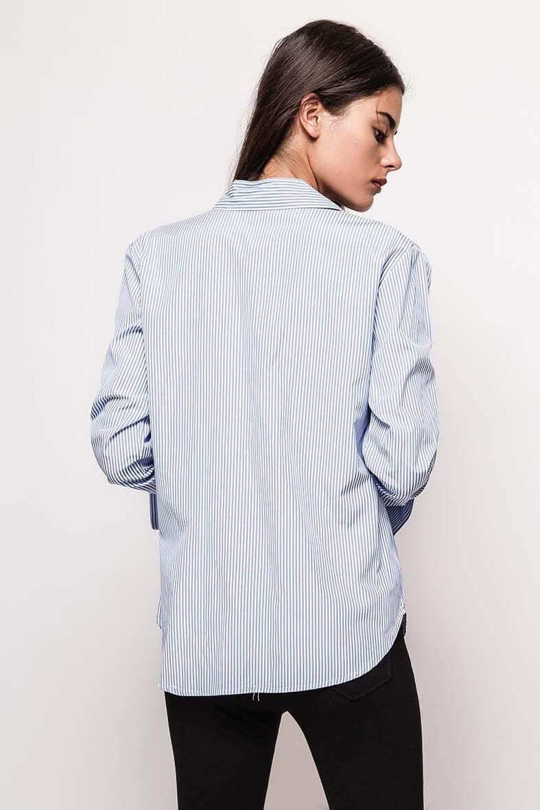 79556aceaf08 Dlhá modrá pruhovaná košeľa s perličkami - ROUZIT.SK