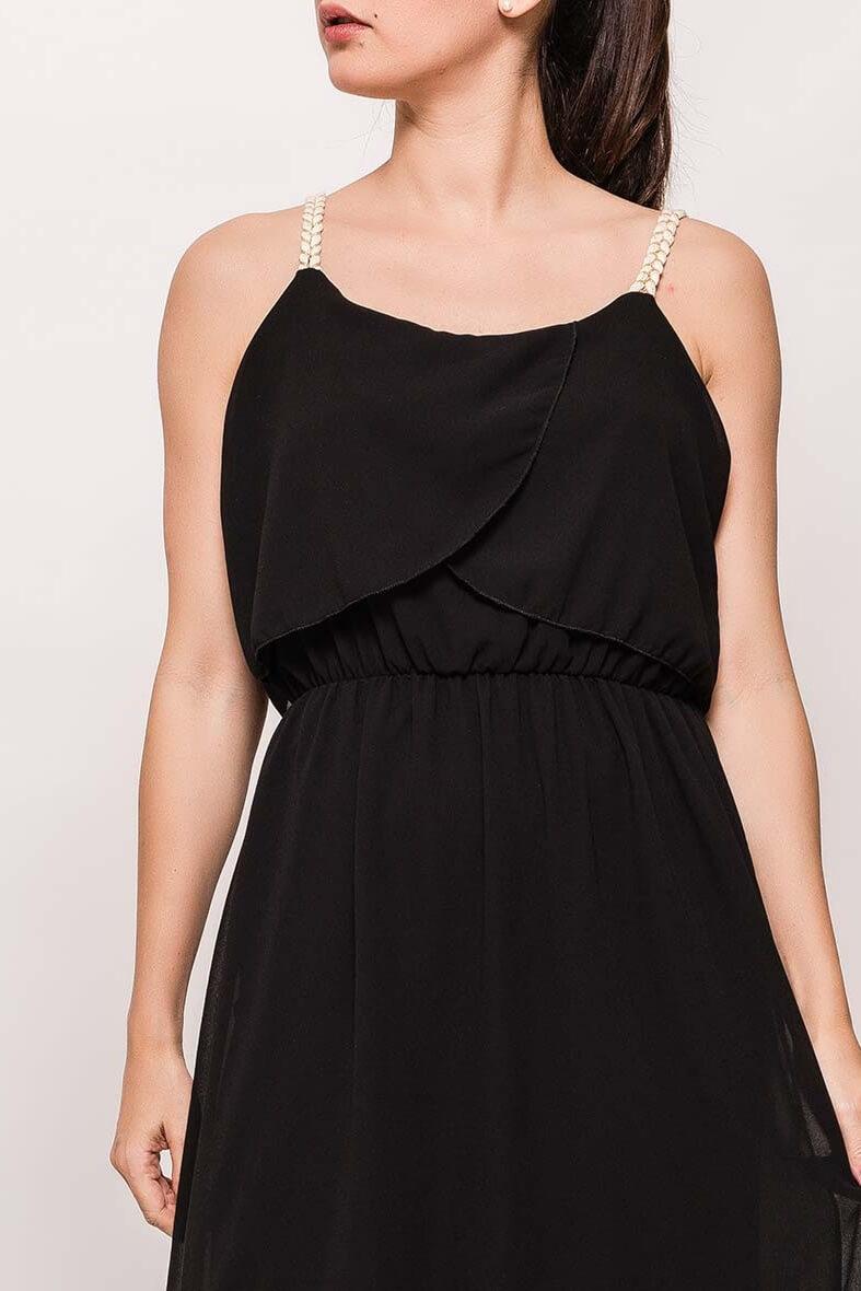 650ceb30026e Dlhé čierne šaty na ramienka. Dlhé čierne šaty na ramienka zväčšiť obrázok