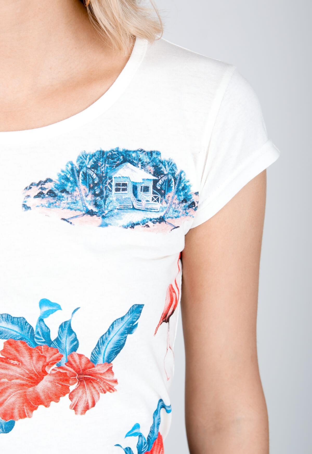 b2ff87bbc1b04 Biele tričko s krátkym rukávom a potlačou - ROUZIT.SK