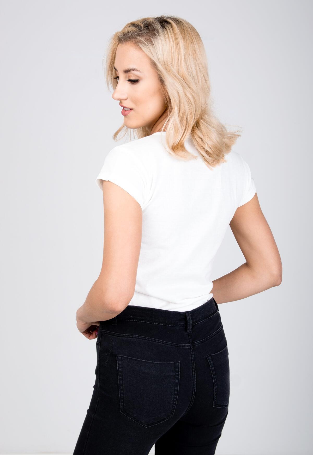 7efc2de72 Biele tričko s potlačou lesných zvierat - ROUZIT.SK
