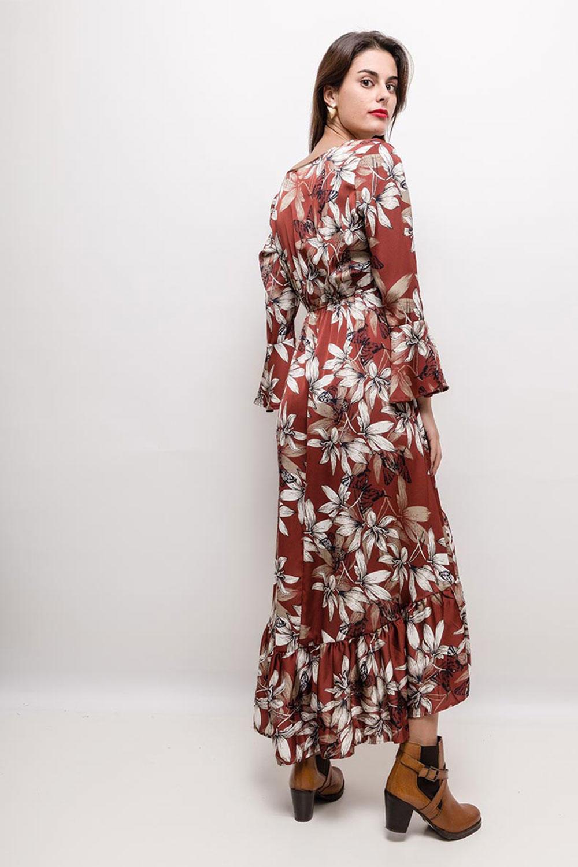 b73e28b04ebc Elegantné asymetrické šaty s kvetinovým vzorom - ROUZIT.SK