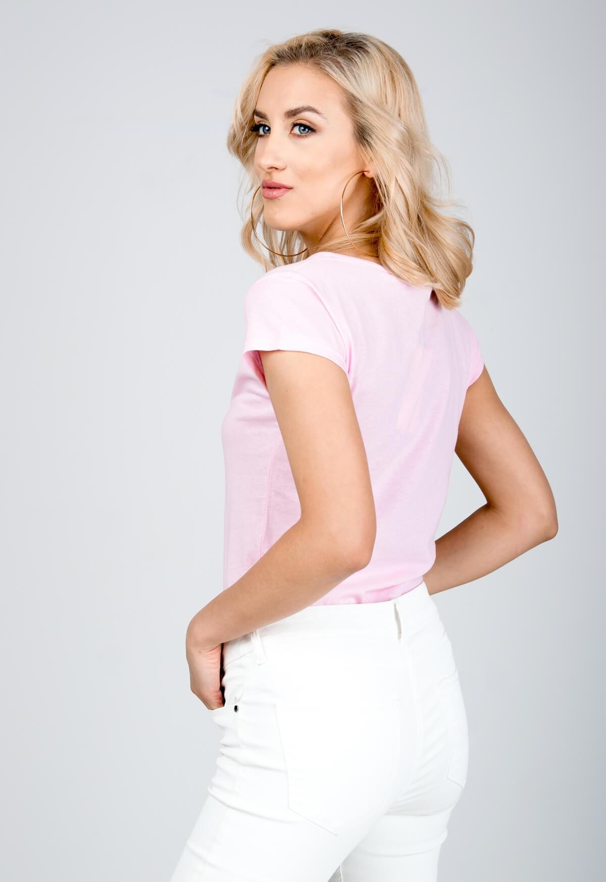 1162d11f7d3a Klasické ružové tričko s krátkym rukávom - ROUZIT.SK