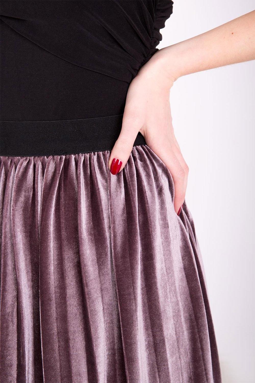 66f1fbcc2308 Fialová stredne dlhá plisovaná sukňa - ROUZIT.SK
