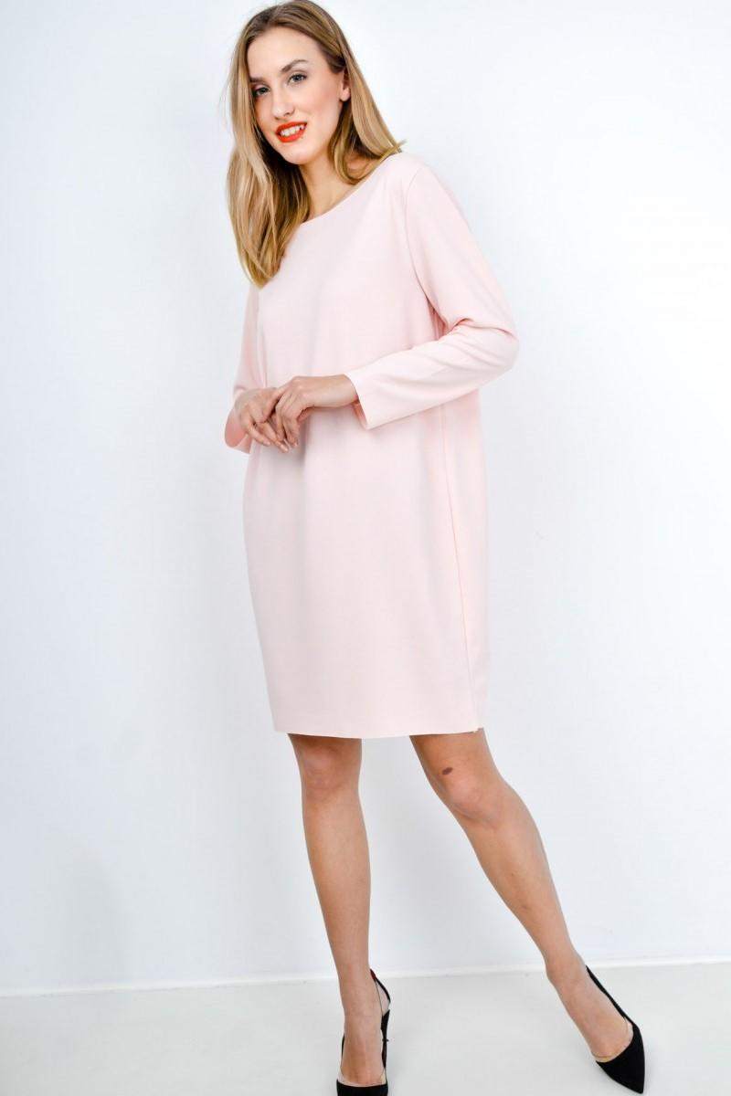 7d23c554faff Krátke ružové šaty s dlhým rukávom - ROUZIT.SK