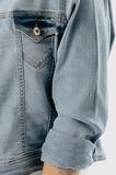 Krátka denim bunda oversize na gombíky