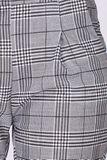 Sivé dámske nohavice s tartanovým vzorom
