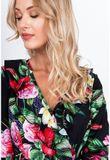 Čierne spoločenské maxi šaty s kvetinovým motívom
