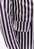 Pruhované dámske sako