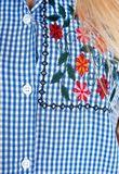 Kockovaná letná košeľa bez rukávov