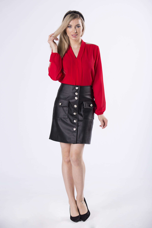 Dámska krátka čierna sukňa - 36