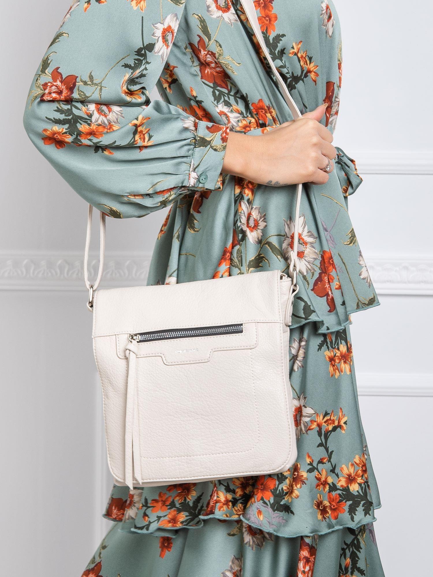 Béžová dámska kabelka na rameno - UNI
