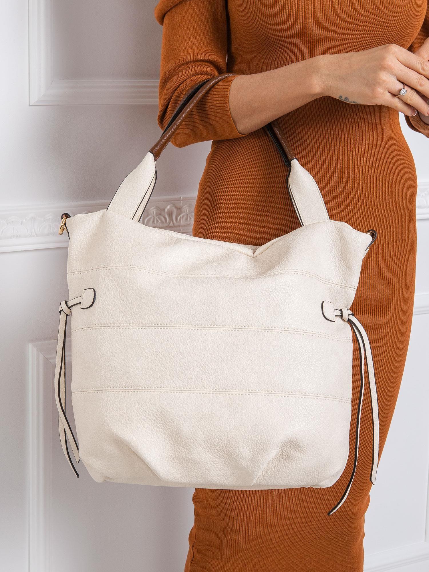 Béžová kabelka na rameno z eko kože - UNI