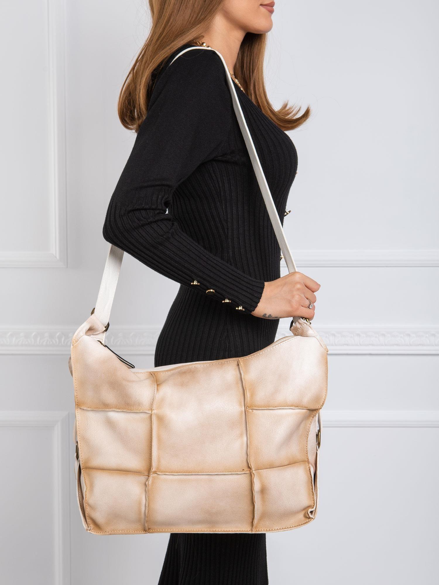 Béžová kabelka na rameno do mesta - UNI