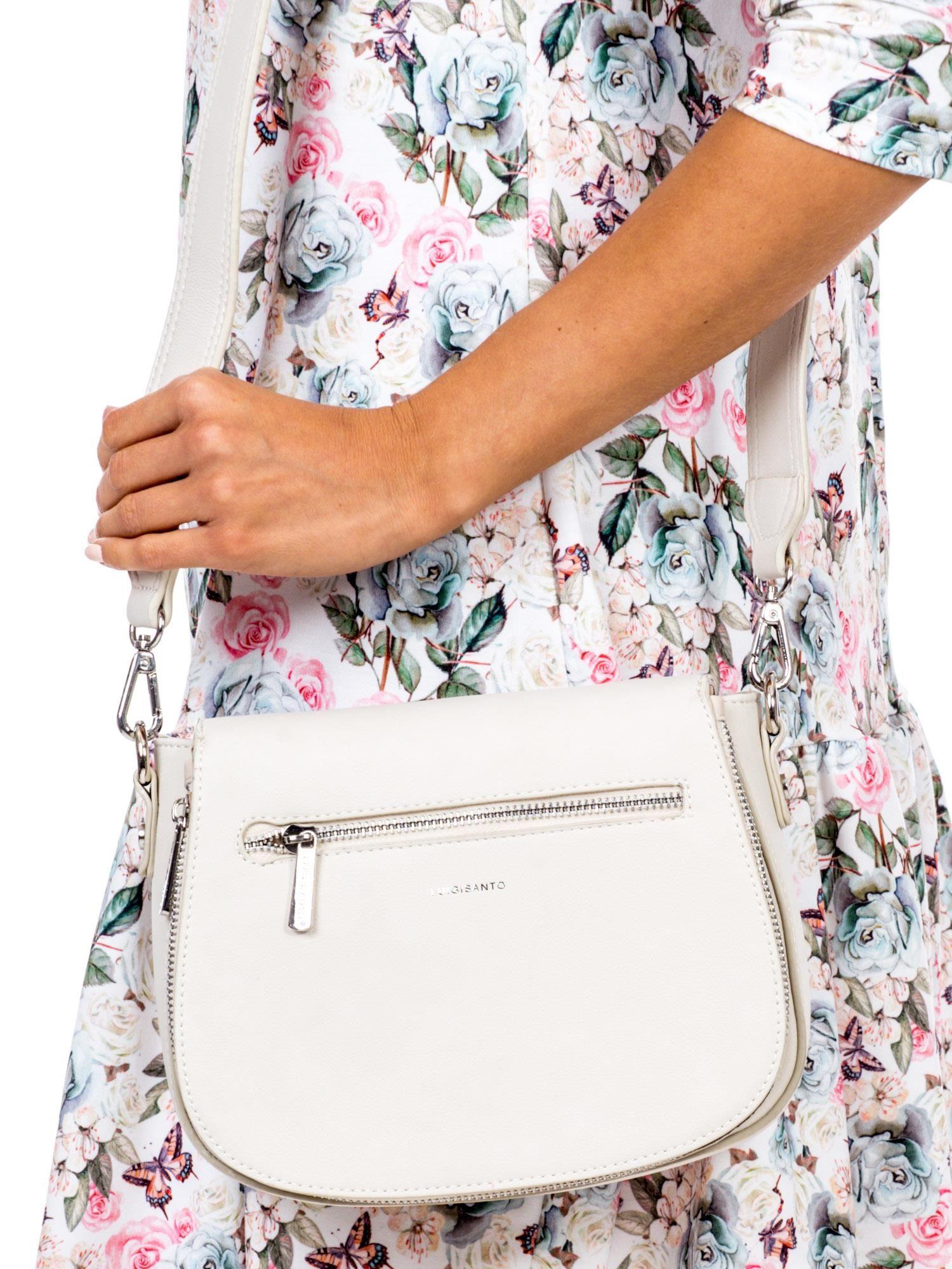 Béžová kabelka na rameno so zipsom - UNI