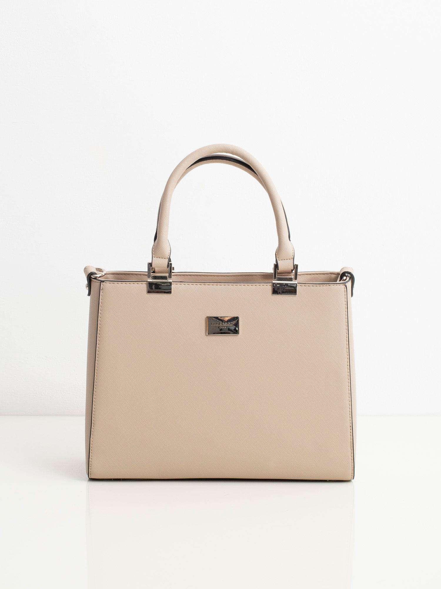 Elegantná béžová kabelka na rameno - UNI