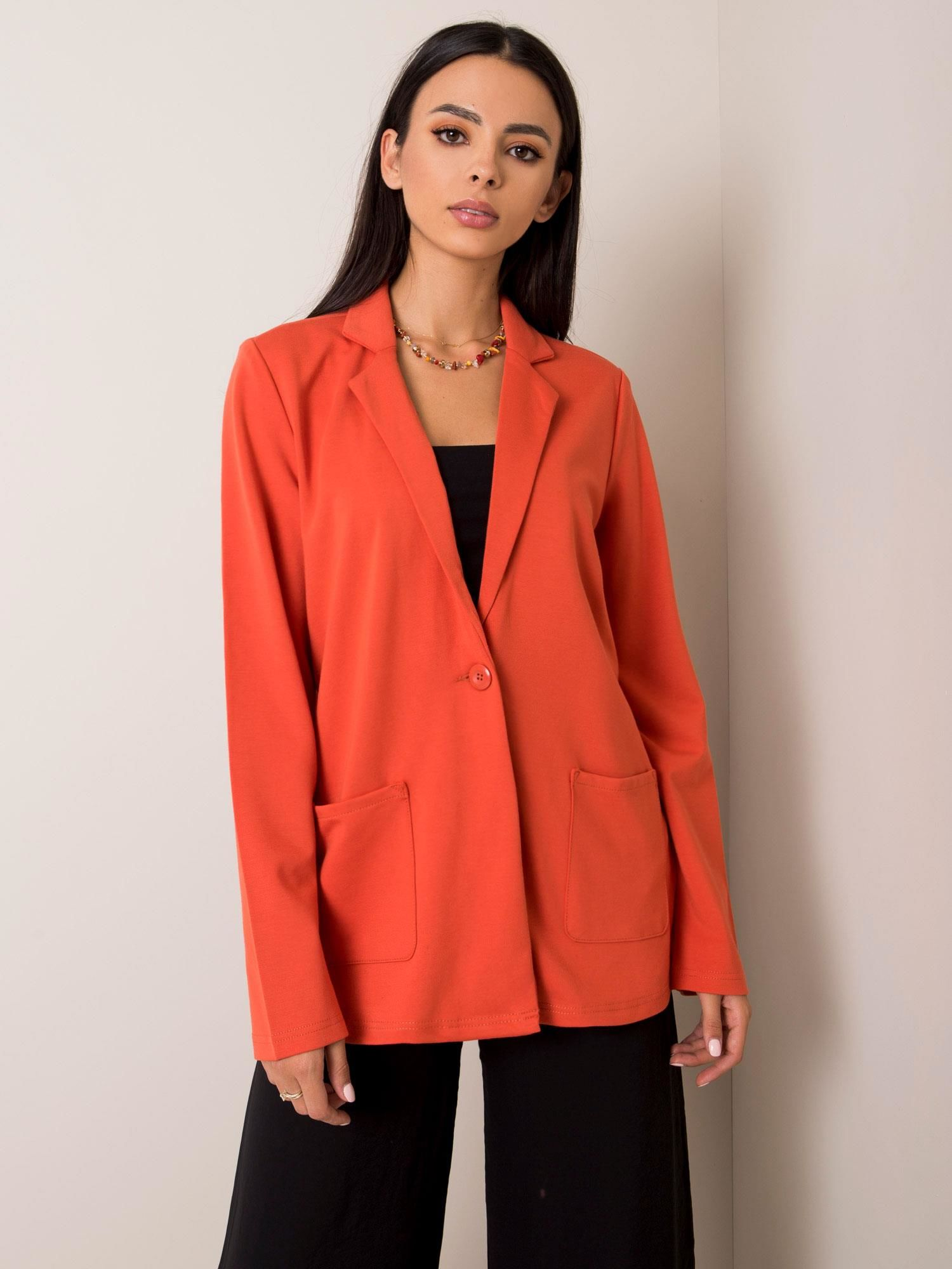 Dámske oranžové sako - S