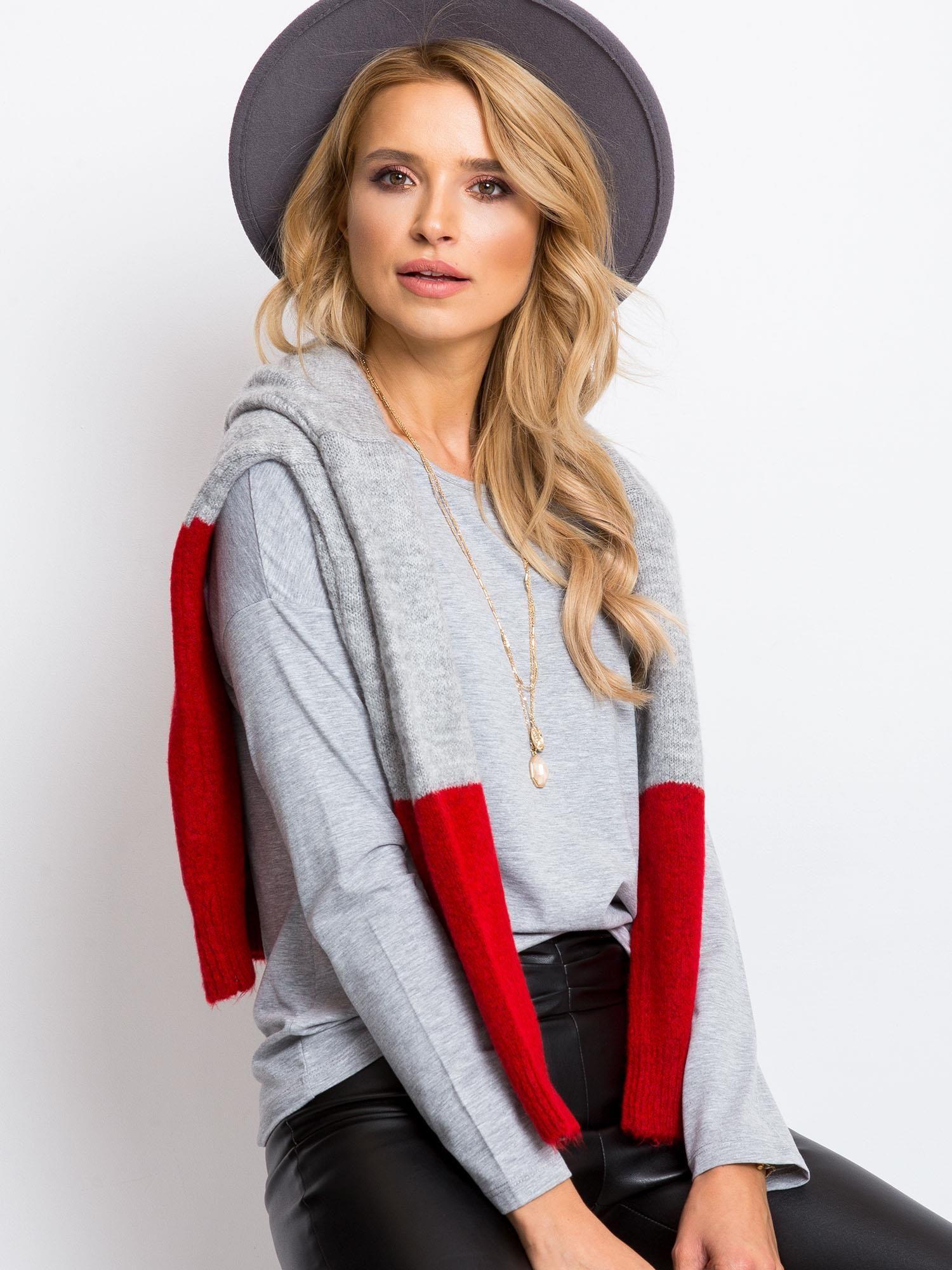 Sivé tričko s dlhým rukávom - M