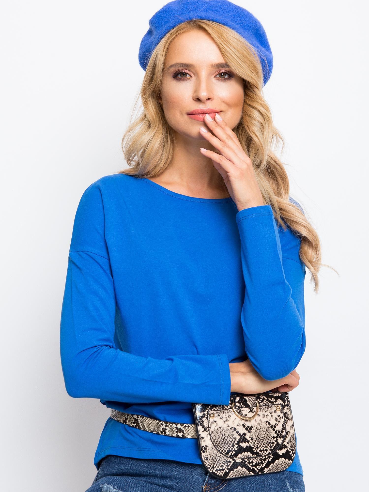 Modré tričko s dlhým rukávom - S