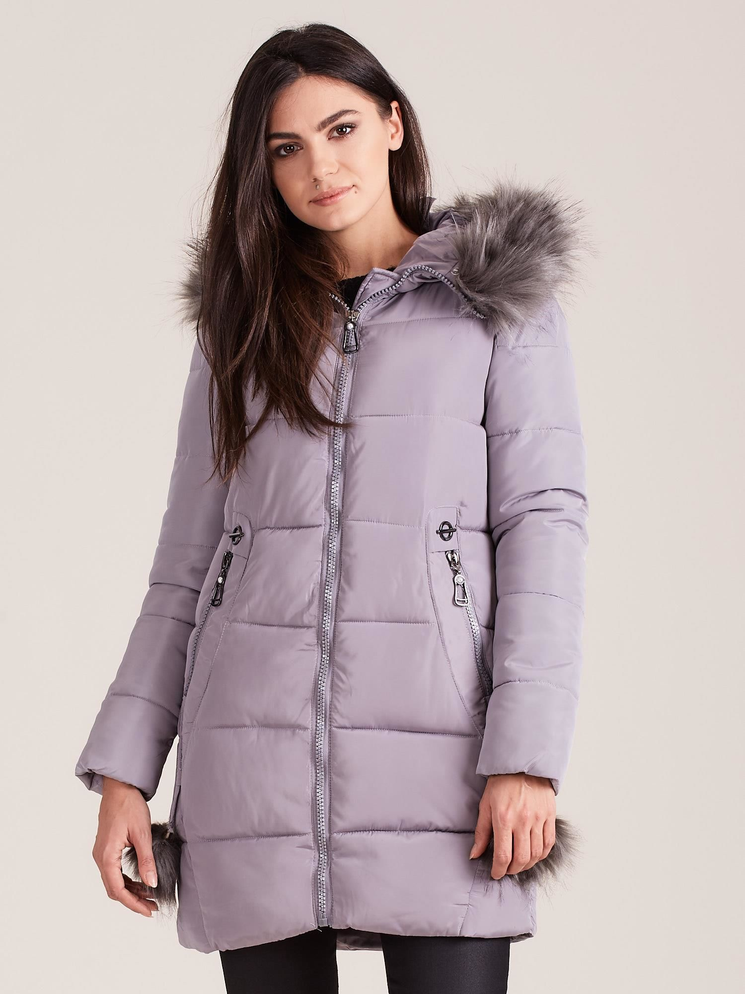 Dámska zimná prešívaná bunda - XXL