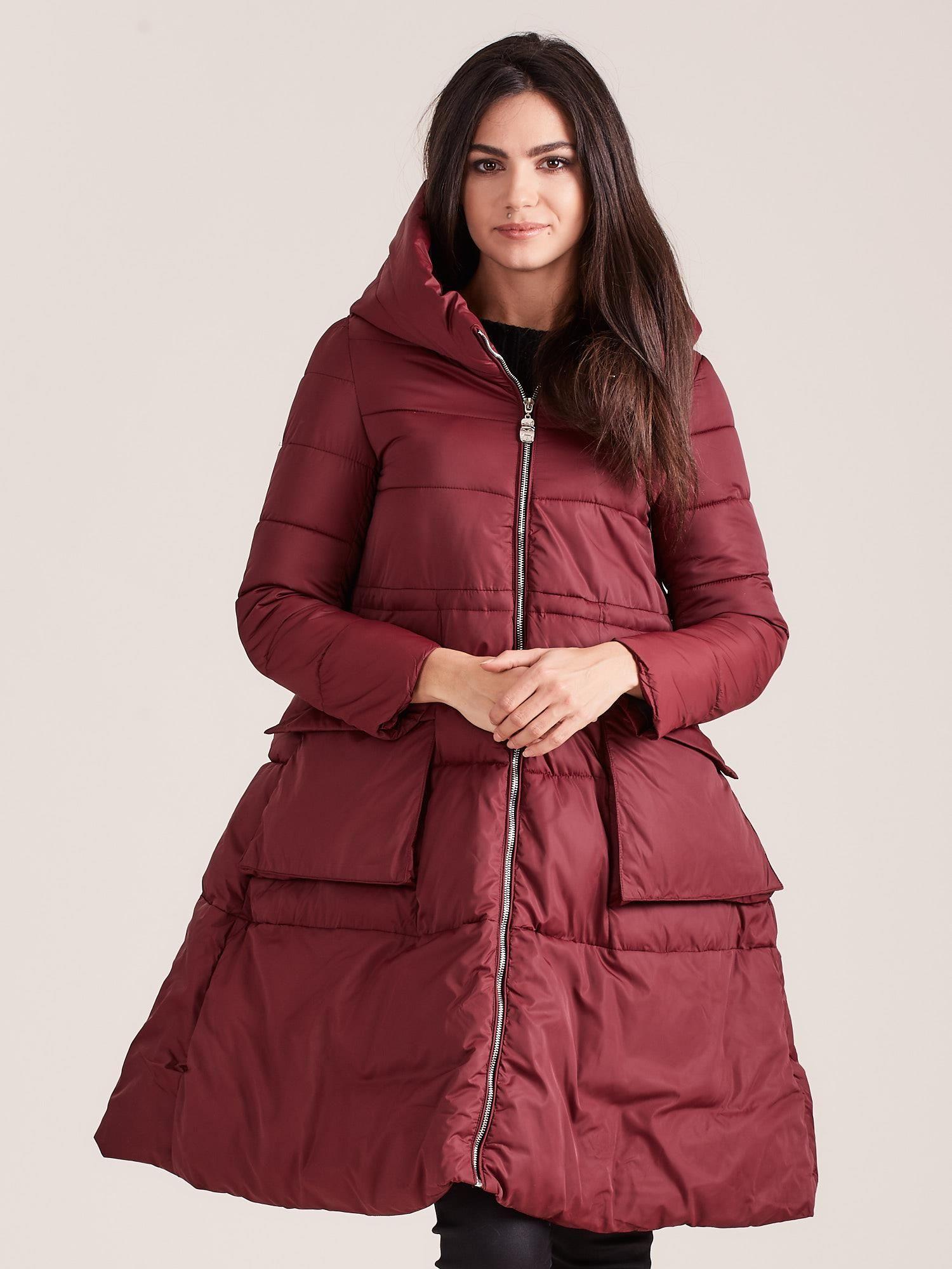 Asymetrická bordová zimná bunda - XL