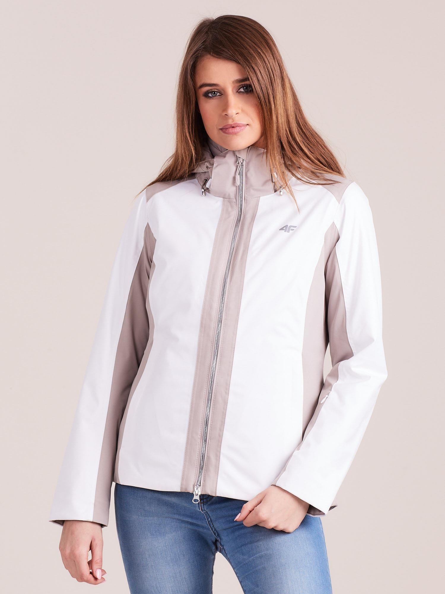 Biela lyžiarska zimná bunda - L