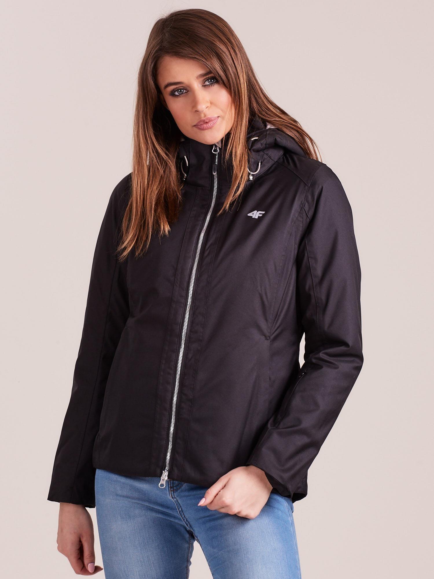 Čierna lyžiarska zimná bunda - M