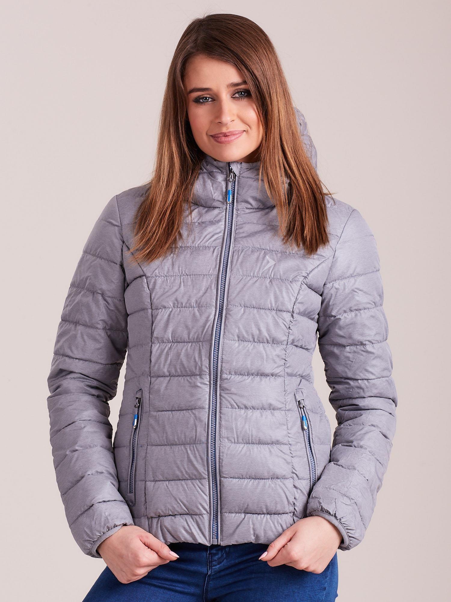 Zimná svetlosivá bunda - S