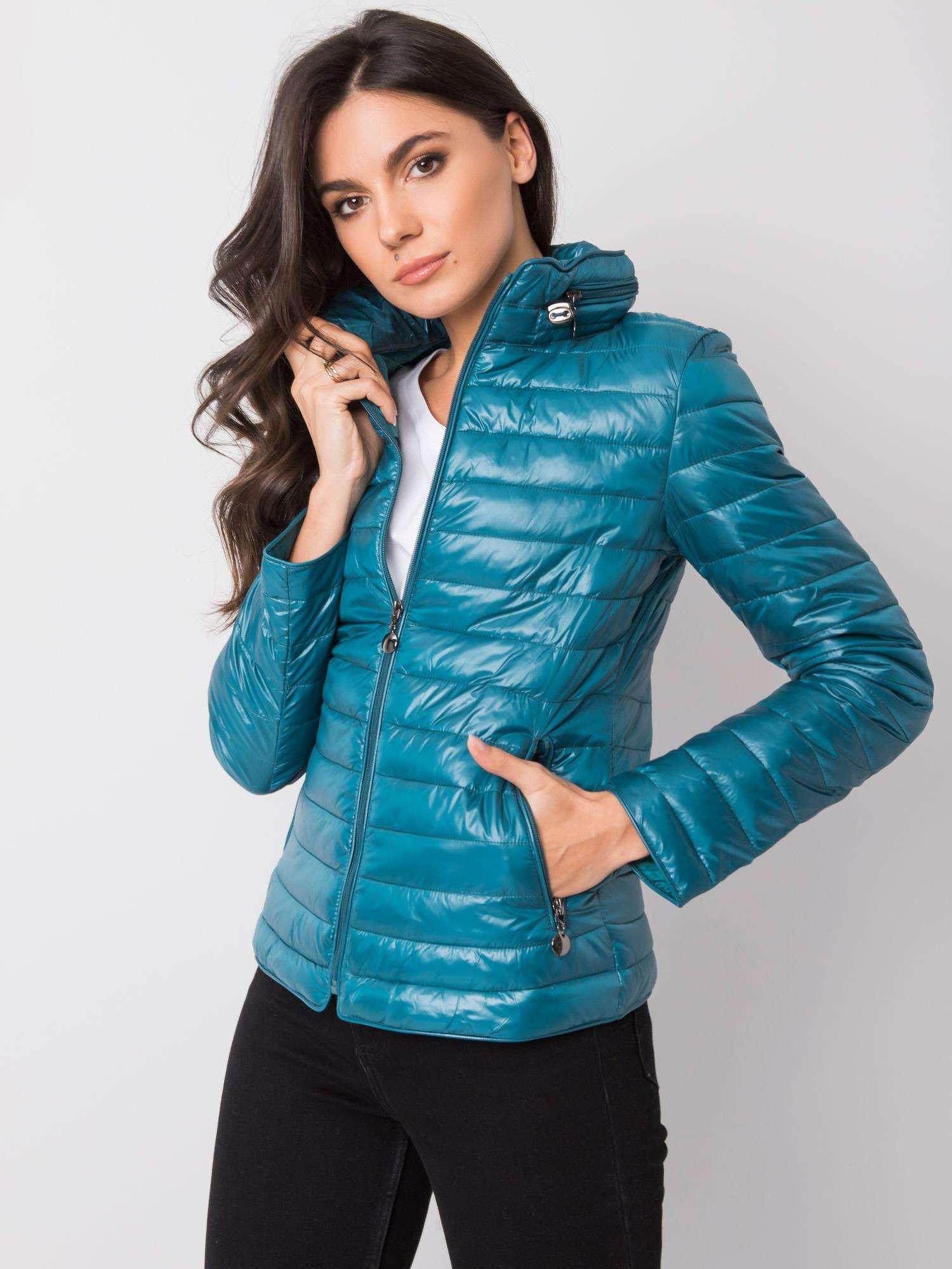 Modrá krátka prešívaná bunda - XXL