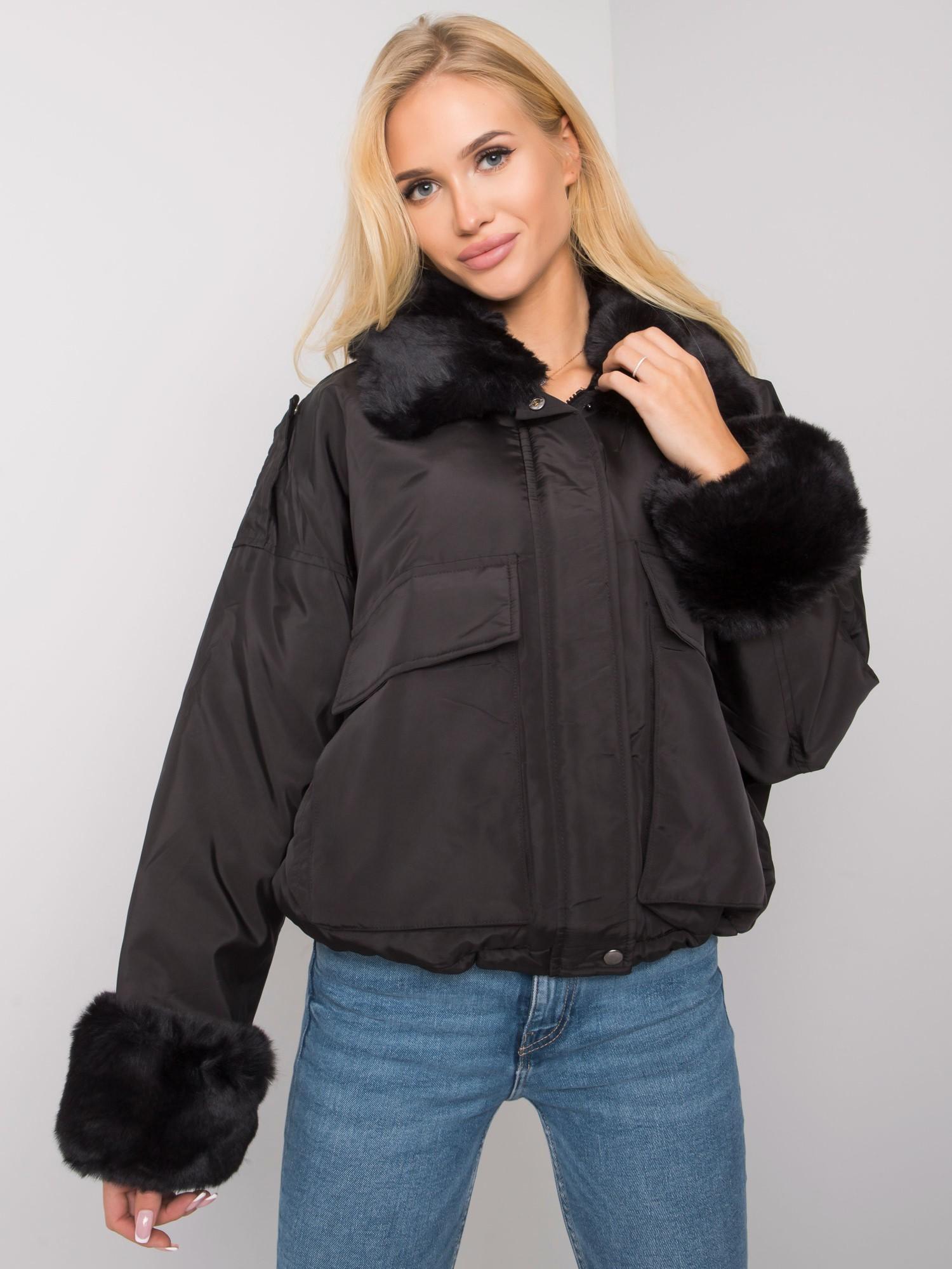 Čierna dámska bunda - M