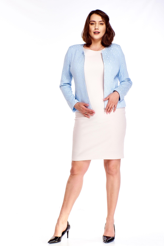 Modré krátke sako s kvetinovým vzorom - 38