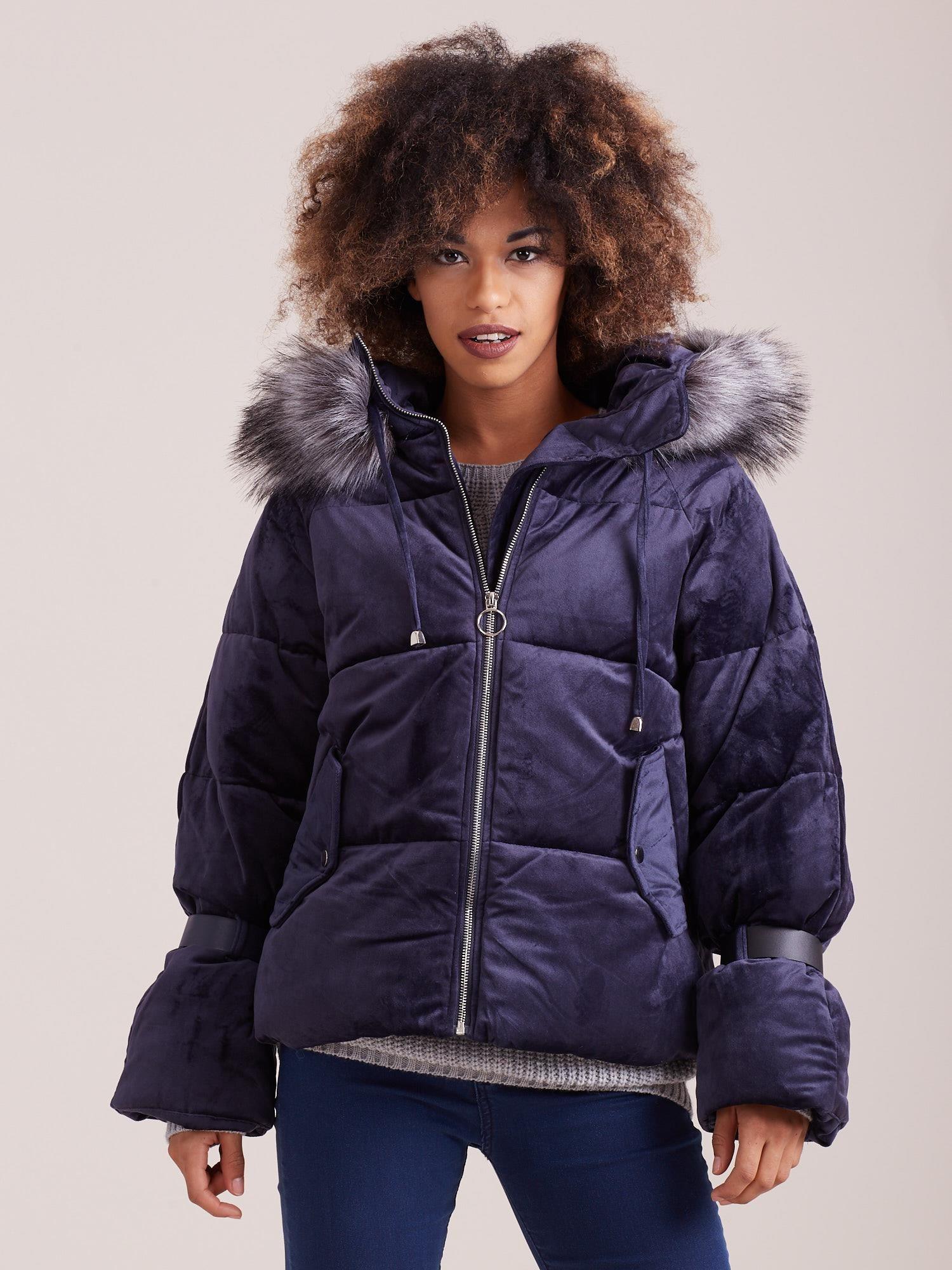 Zimná modrá bunda - S