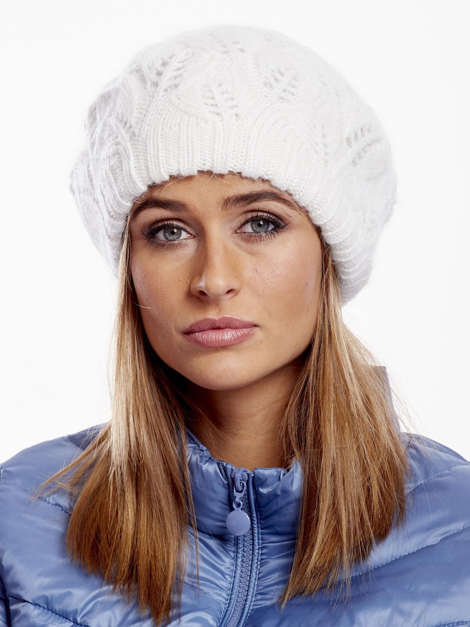 Dámska béžová pletená čiapka - UNI