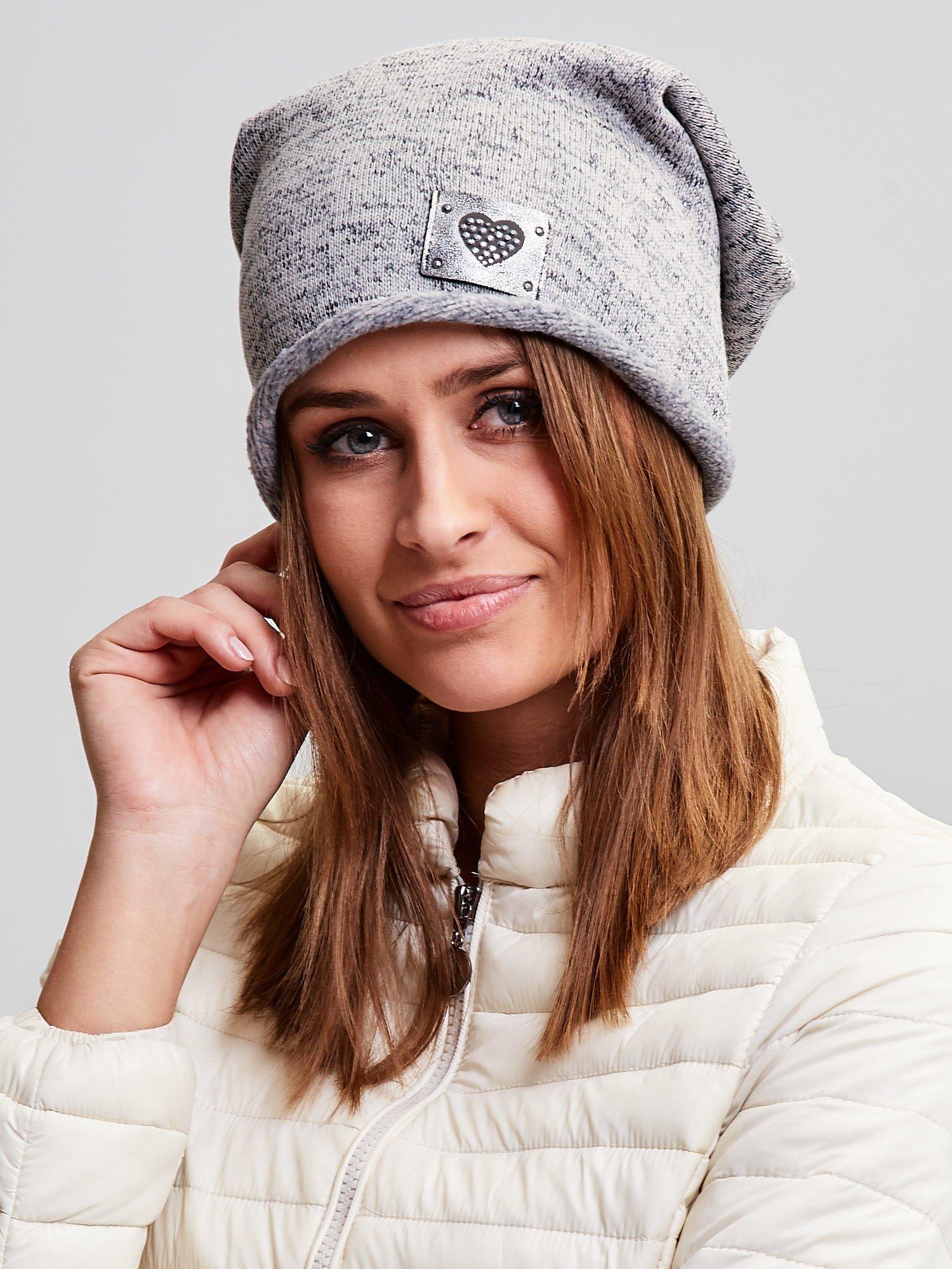 Dámska bavlnená béžová čiapka s kamienkami - UNI