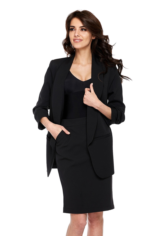 Dámska elegantná čierna sukňa - XL