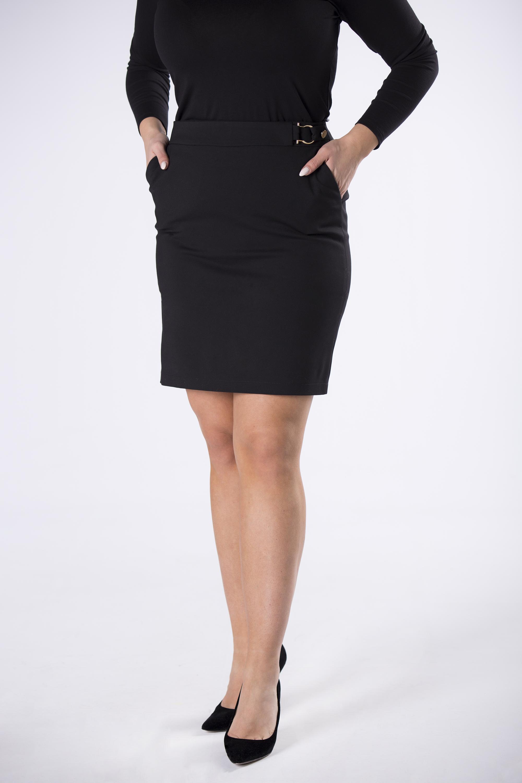 Dámska čierna sukňa s prackou - 36