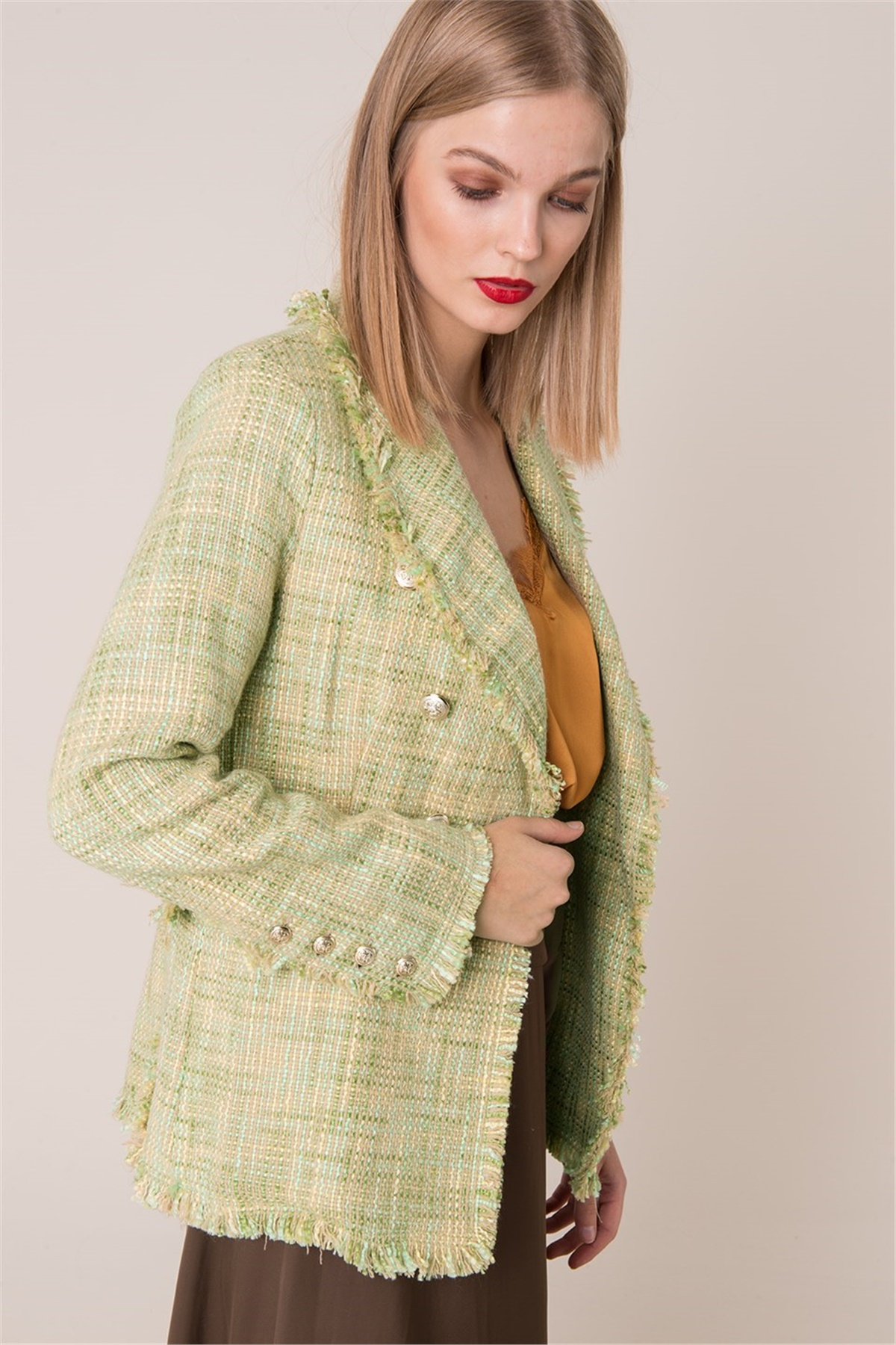 Dámska zelená bunda - M