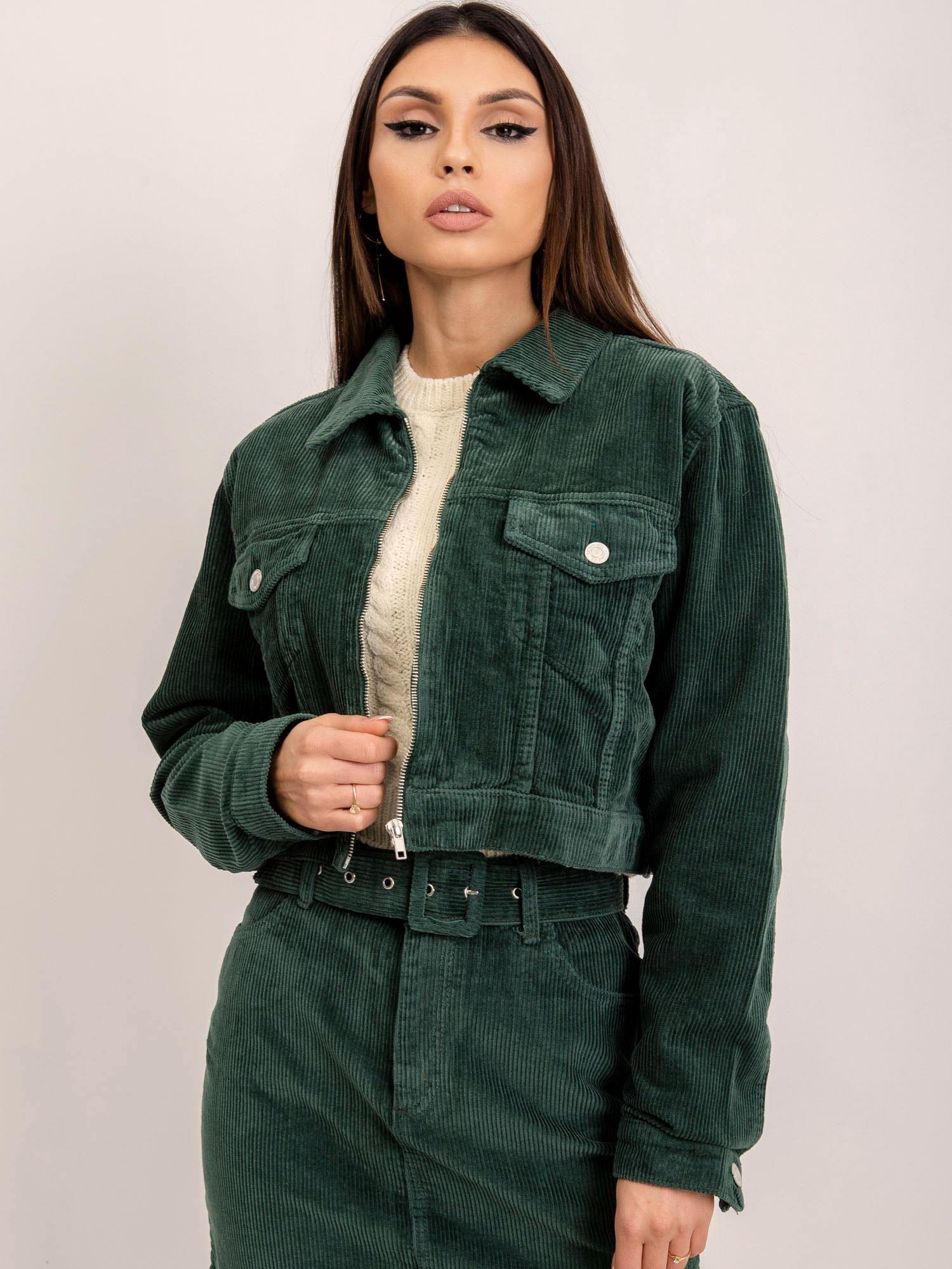Zelená dámska bunda - M