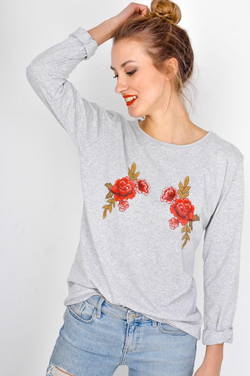 Dámske bavlnené tričko s dlhým rukávom