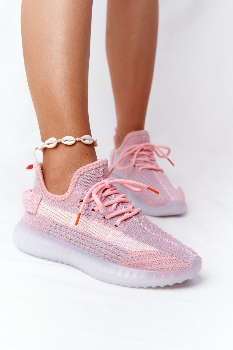 Ružové tenisky na gumenej podrážke - 40