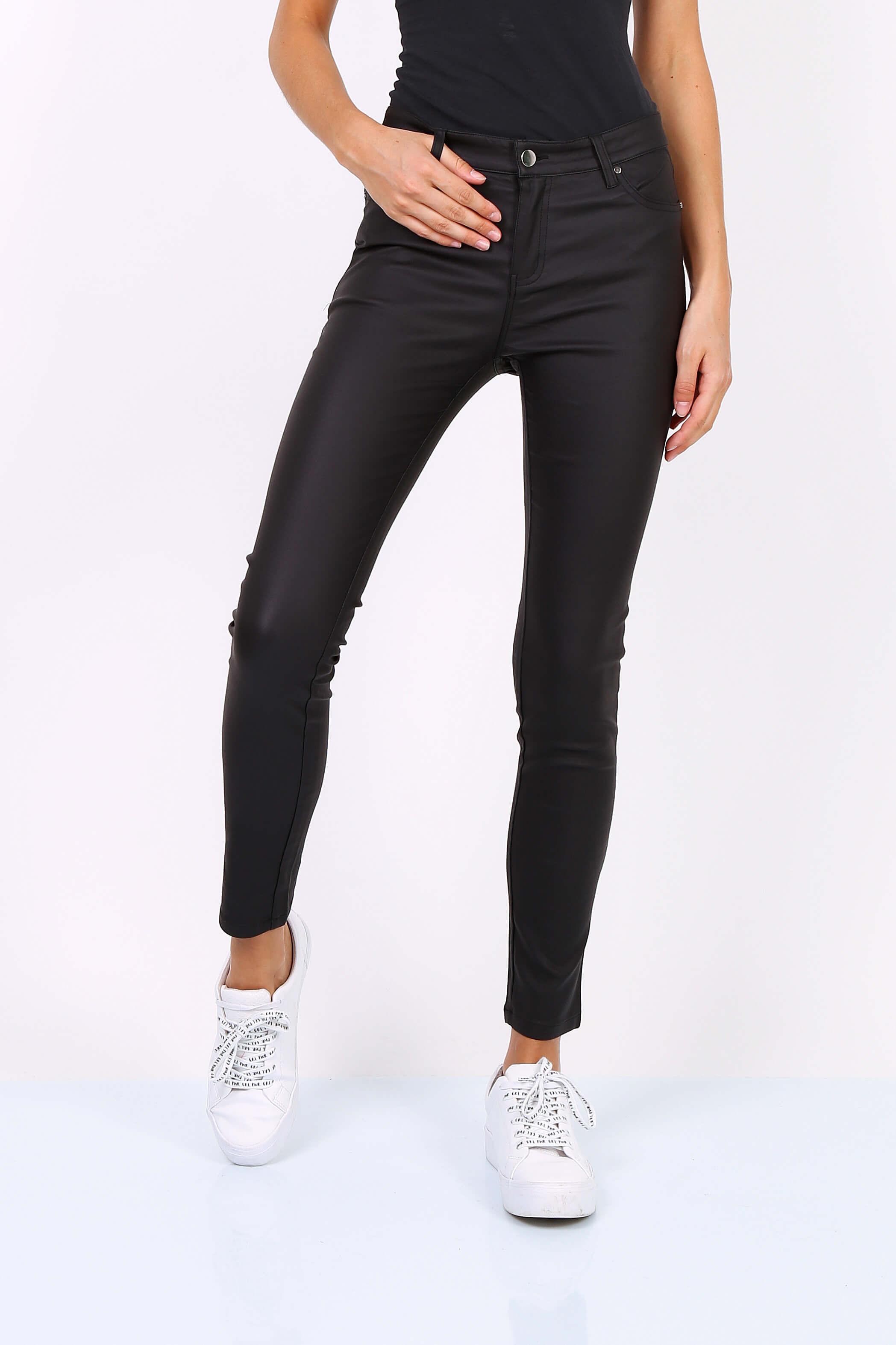 e5d9547faed9 Dámske čierne elastické nohavice - ROUZIT.SK